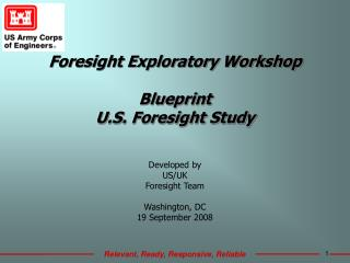 Foresight Exploratory Workshop Blueprint U.S. Foresight Study