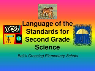 Language of the Standards for  Second Grade Science