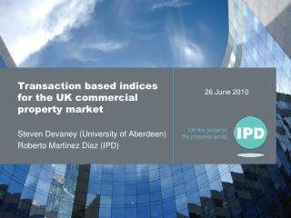 Transaction based indices for the UK commercial property market