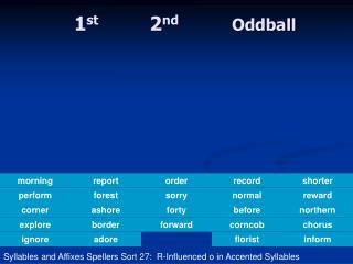 1 st        2 nd Oddball