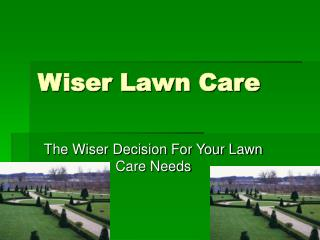 Wiser Lawn Care