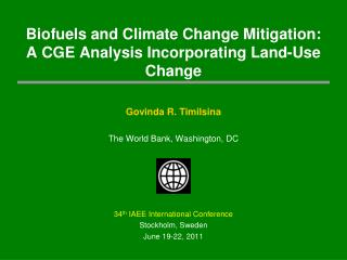 Biofuels  and Climate Change Mitigation: A CGE Analysis Incorporating Land-Use Change