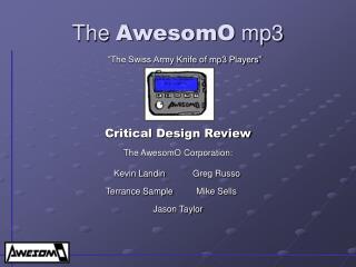 The  AwesomO  mp3