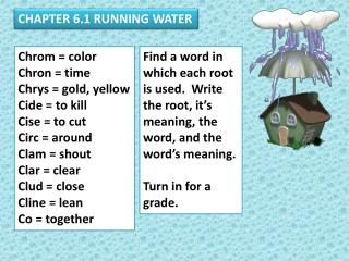 CHAPTER 6.1 RUNNING WATER