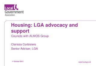 Housing: LGA advocacy and support
