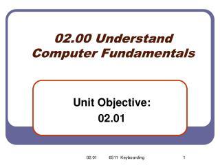 0 2.00 Understand Computer Fundamentals