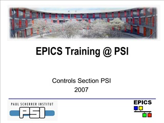 EPICS Training  PSI