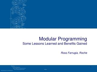 Modular Programming  Some Lessons Learned and Benefits Gained