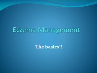 Eczema Management