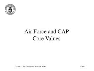 Air Force and CAP Core Values