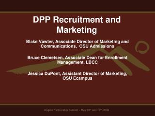 DPP Recruitment and Marketing