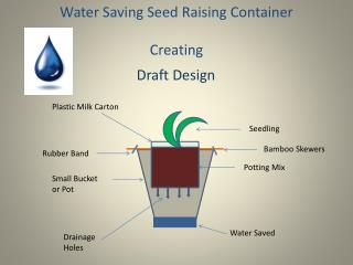 Water Saving Seed Raising Container  Creating