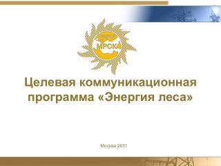 Целевая коммуникационная программа «Энергия леса»