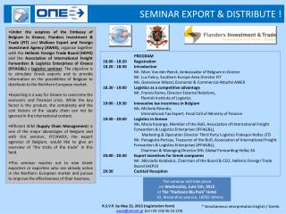 SEMINAR EXPORT & DISTRIBUTE !