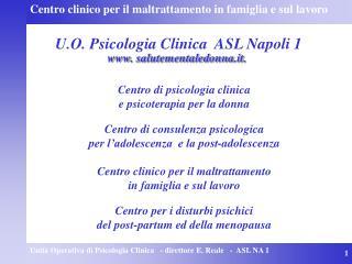 U.O. Psicologia Clinica  ASL Napoli 1