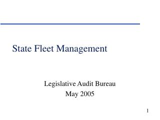 State Fleet Management