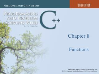 Chapter 8 Functions