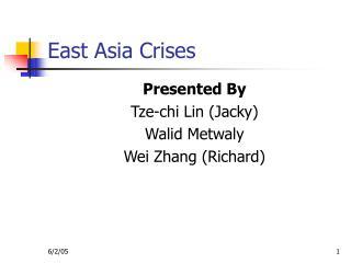 East Asia Crises