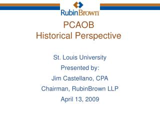 PCAOB Historical Perspective