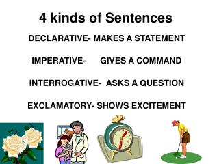4 kinds of Sentences