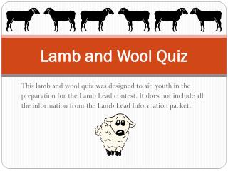 Lamb and Wool Quiz