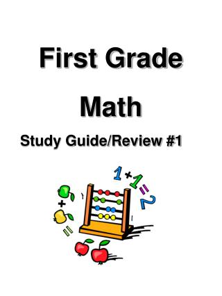 First Grade Math Study Guide/Review #1