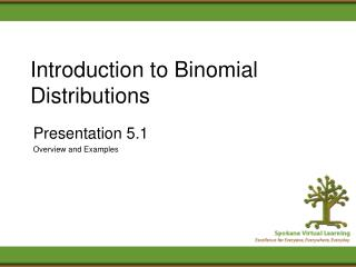 Introduction to Binomial Distributions