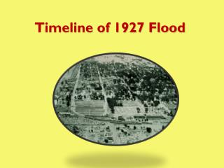 Timeline of 1927 Flood