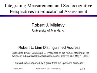Integrating Measurement and Sociocognitive Perspectives in Educational Assessment