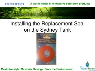 Installing the Replacement Seal on the Sydney Tank