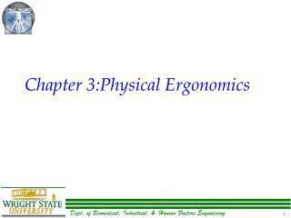 Chapter 3:Physical Ergonomics