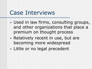 Case Interviews