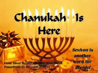 Chanukah   Is   Here