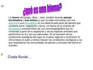 ¿què es una bioma?