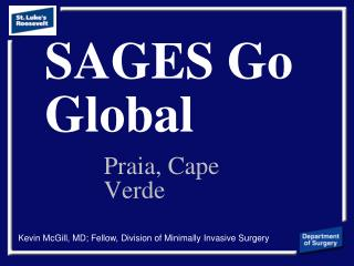 SAGES Go Global