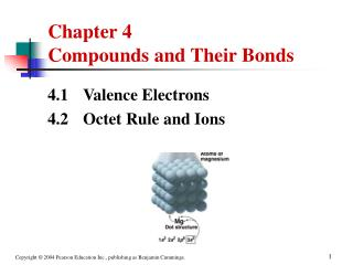 Chapter 4     Compounds and Their Bonds