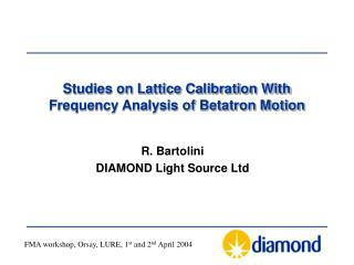Studies on Lattice Calibration With Frequency Analysis of Betatron Motion