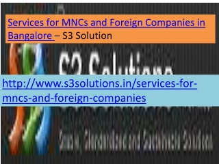 Services for MNCs and Foreign Companies in Banga