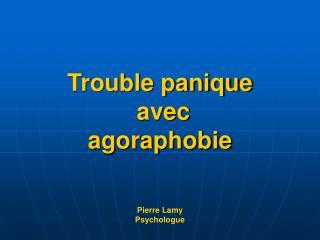 Trouble panique  avec  agoraphobie Pierre Lamy Psychologue
