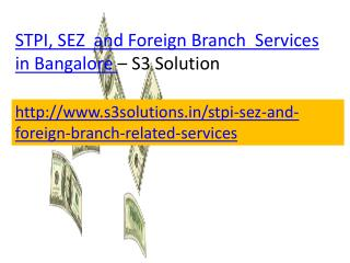 STPI, SEZ and Foreign Branch  Services in Bangalore