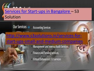 Services for Start-ups in Bangalore-S3 Solution
