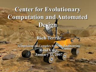 Center for Evolutionary Computation and Automated Design