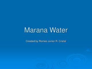 Marana Water