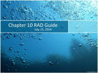 Chapter  10 RAD Guide