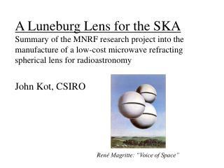 John Kot, CSIRO