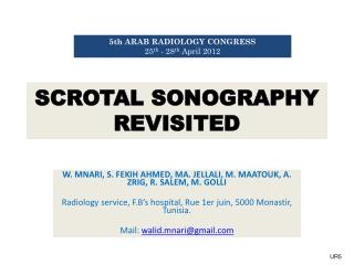 SCROTAL SONOGRAPHY REVISITED