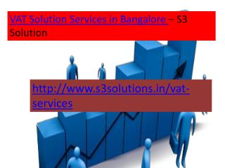 VAT Services in Bangalore-S3 Solution