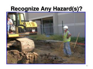 Recognize Any Hazard(s)?