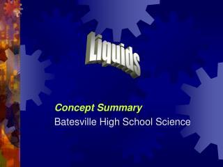 Concept Summary Batesville High School Science