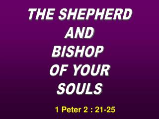 1 Peter 2 : 21-25